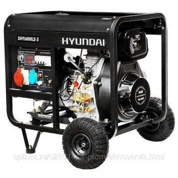 Дизельный генератор Hyundai DHY 6000LE-3 с АВР