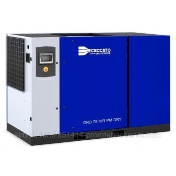 Винтовой электрический компрессор Ceccato DRD 100 IVR PM DRY с осушителем