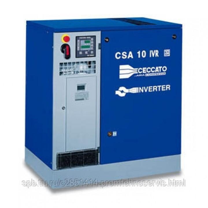 Винтовой электрический компрессор Ceccato CSA 15/8 IVR на раме