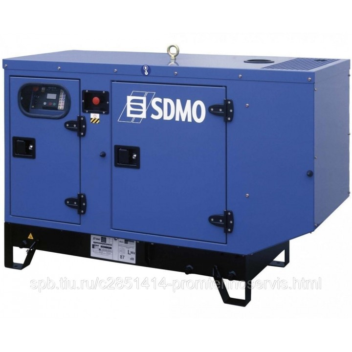 Дизельный генератор SDMO K 12M в кожухе с АВР