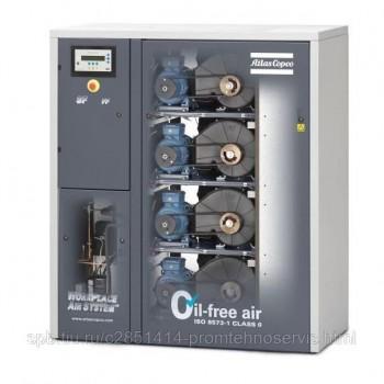 Безмасляный спиральный компрессор Atlas Copco SF DM15+ Duplex
