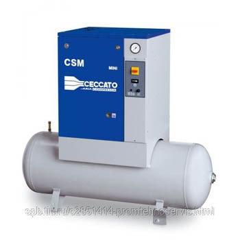 Винтовой электрический компрессор Ceccato CSM 10X MINI на ресивере
