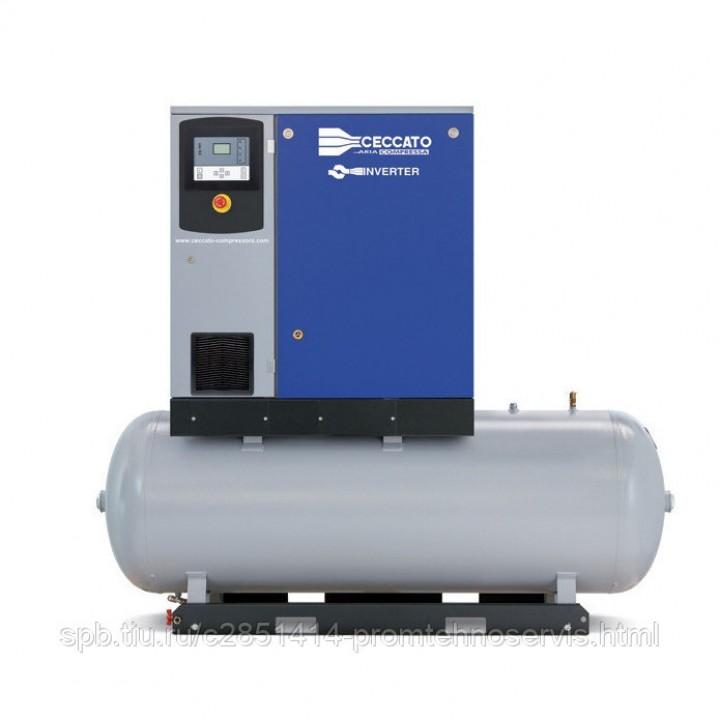 Винтовой электрический компрессор Ceccato DRA10/13 500 400/50 IVR на ресивере