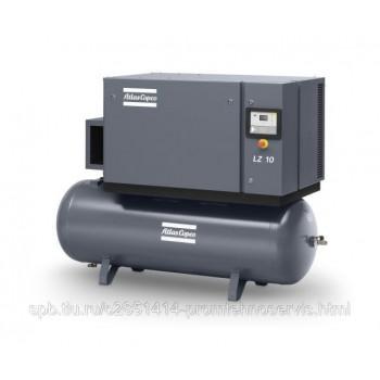 Поршневой безмасляный компрессор Atlas Copco LZ 7-10 TM на ресивере 270 л