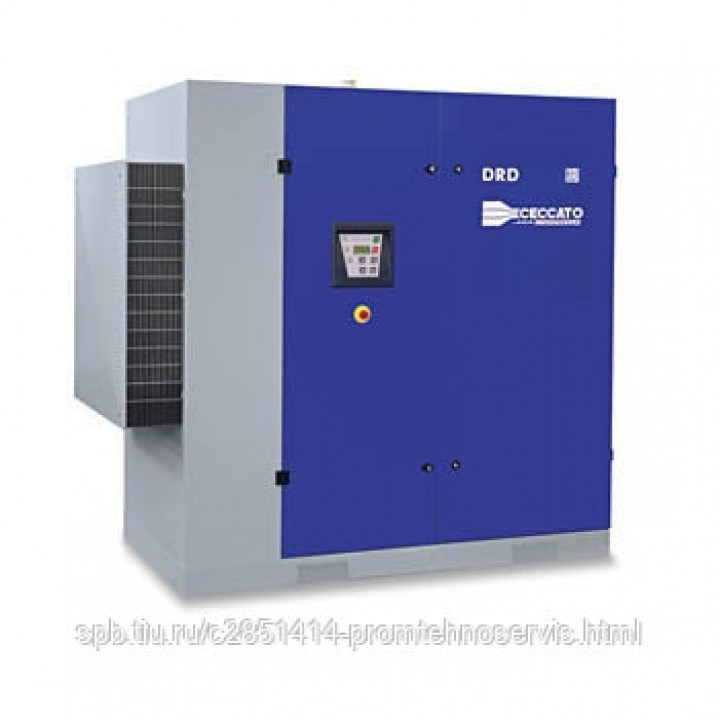 Винтовой электрический компрессор Ceccato DRD 100/10 DRY с осушителем