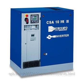 Винтовой электрический компрессор Ceccato CSA 10/8 IVR на раме