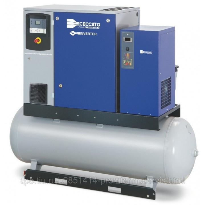 Винтовой электрический компрессор Ceccato DRA10/13 500 D 400/50 IVR на ресивере с осушителем
