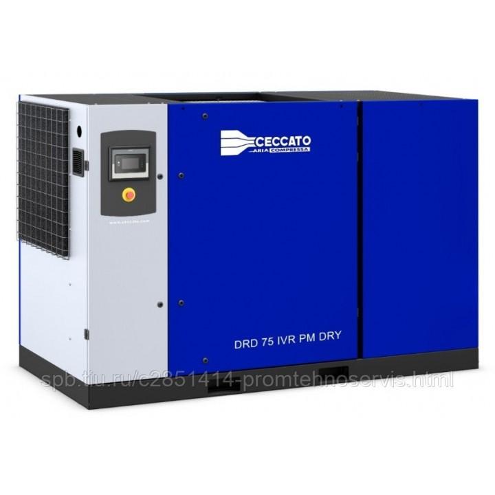 Винтовой электрический компрессор Ceccato DRD 75 IVR PM DRY с осушителем