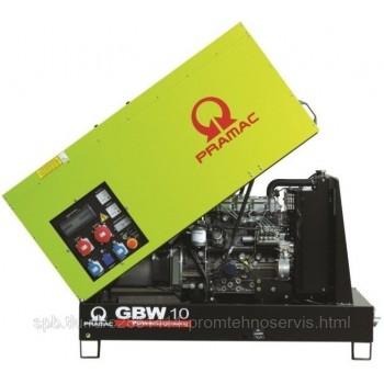 Дизельный генератор Pramac GBW 10 P 3 фазы в кожухе с АВР
