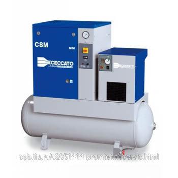 Винтовой электр. компрессор Ceccato CSM 10X MINI 8 бар на ресивере с осушителем