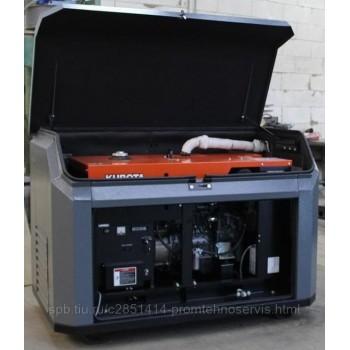 Дизельный генератор Kubota J 108 в кожухе с АВР