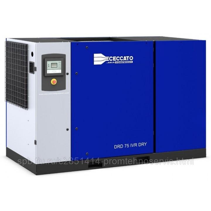 Винтовой электрический компрессор Ceccato DRD 100 IVR H DRY с осушителем