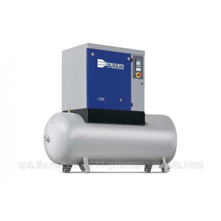 Винтовой электрический компрессор Ceccato CSM 7,5/10 500L